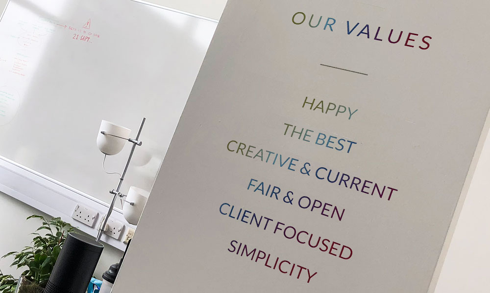 Company Values we live by at TRS Design in Lincoln